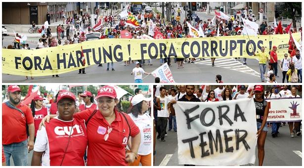 Sindilimpe-ES fortalece Greve Geral contra a terceirização sem limites e as reformas da Previdência e Trabalhista