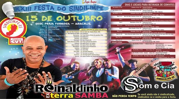 Ex-Terra Samba, Reinaldinho é o destaque da XXIII Festa da Categoria