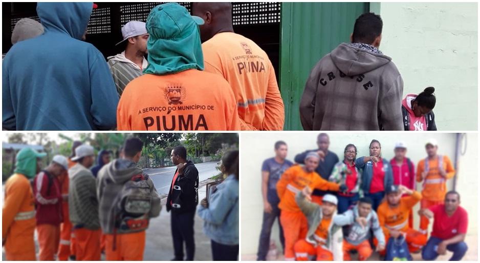Trabalhadores de Piúma cruzam os braços contra atraso de salário